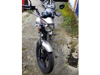 Zontes Tiger 125cc. Ideal learner or commuter bike. Taxed and MOT. Good condition. Good runner.