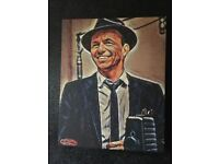 Totally original art of frank Sinatra and John Gotti, made onto canvas from original paintings