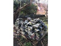 Green slate walling stones