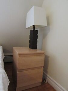 IKEA Night Stand and Lamp