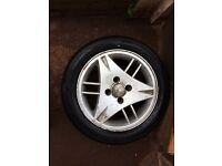 Ford escort alloy wheel and good tyre