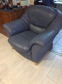 Leather four piece suite