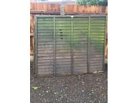 Fence panels X12 second hand