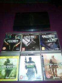 PS3 12gb and cod games bundle