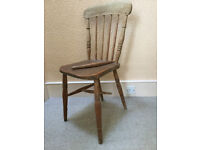 Wooden spindle back chair