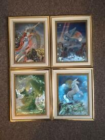 Set of 4 wizard.. Unicorn photo frames for £10