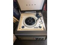An Original Vintage Bush BSR 1960's Autochanger portable Record Player 33/45/78