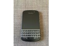 Blackberry q10 phone O2