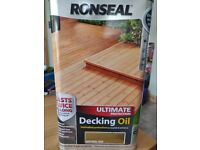 Brand new Ronseal Decking Oil