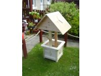 wooden garden/ patio wishing well, brand new