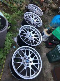 BMW CSL ATMOTIC 19 INCH 9.5J 8.5J ALLOY WHEELS