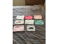 girls newborn/small baby clothes bundle (26 items) + some stuff for mother