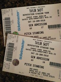 Two Taylor Swift standing tickets. Saturday 16th June.