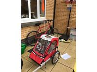 Halfords Bike Trailer, instructions and all accessories