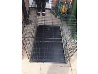 Large fold down dog cage