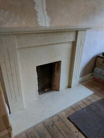 Marble fireplace surround,almost new