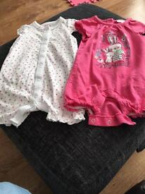 Girls rompers 3-6 months