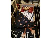 Ikea toddler bed and bedding