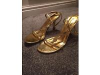 Gold heels size 6
