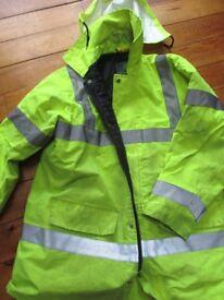 High vis heavy coat