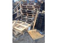 Assorted scrap pallets