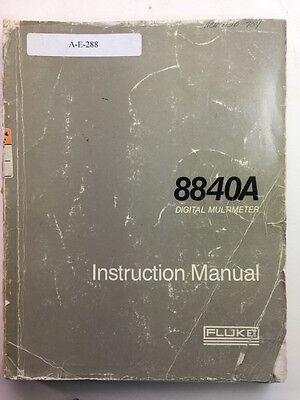 Fluke 8840a Digital Multimeter Instruction Manual Pn 684365