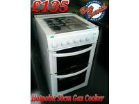 Gas Cooker 50cm White Hotpoint
