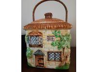 Beswick Cottage Biscuit Barrel