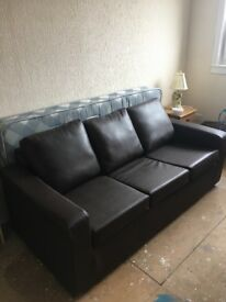 Dark Brown 3 seater sofa