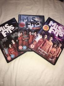 Misfits Series 1,2,3