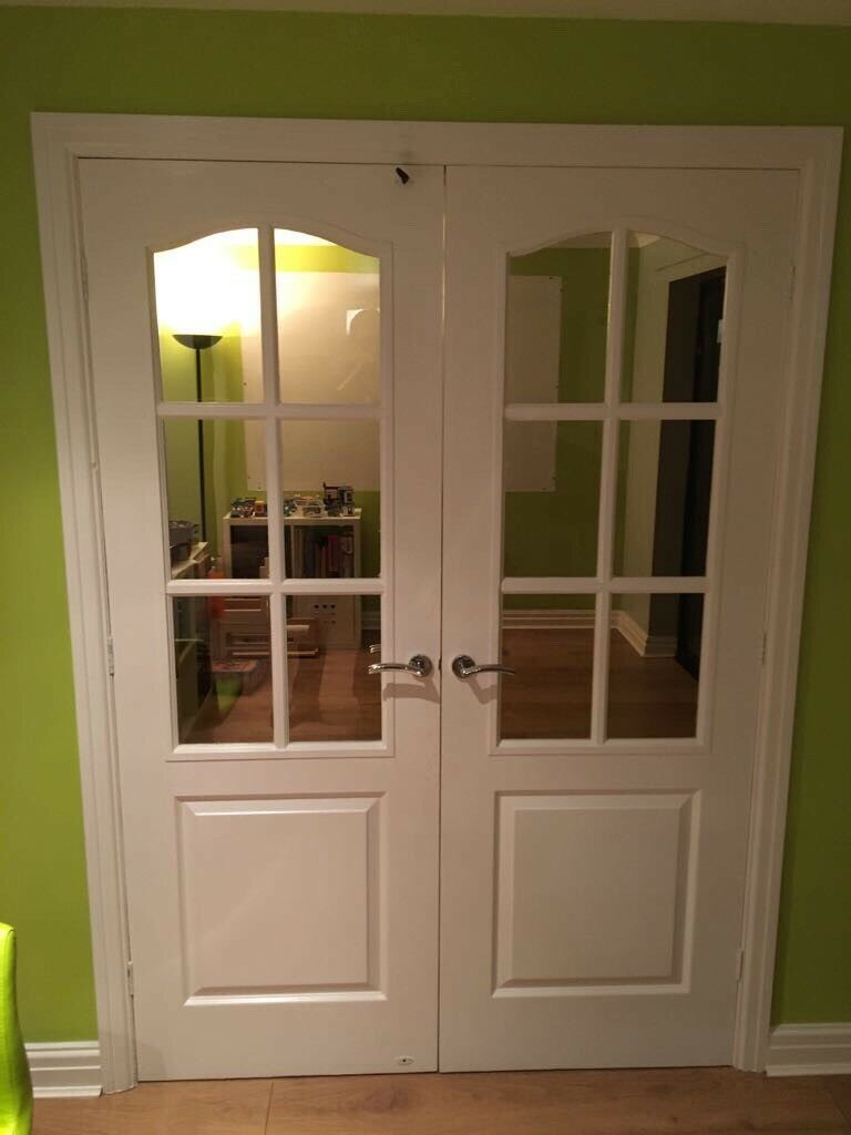 Internal Glass Wooden Double Doors