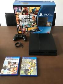 PS4 500gb with 3 games. Mint condition.