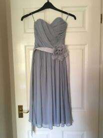 Gorgeous floaty lined grey dress (Bridesmaid/Prom), size 8, NEW
