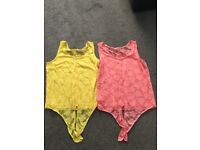 Two Vest Tops Size 18