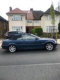 BMW 3 Series 2.0 318CI 2dr blue convertible 2003 Barnet London