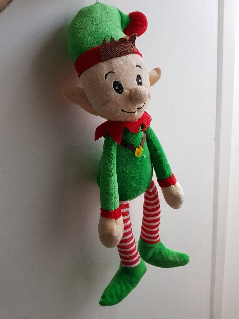Keel toys dangle elf 25cm plush soft toy green