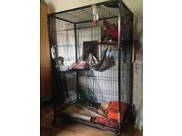 Large heavy duty good quality rodent cage and lots of accessories