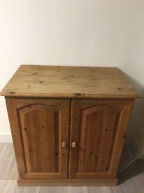 Solid pine computer cupboard