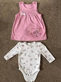 Disney vest and dress 3-6 month
