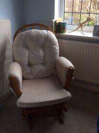 Kub Haywood Glider Nursing Chair and Footstool, natural