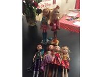 Monster high and ever after high dolls