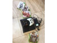 Xbox 360S/Go 250GB w/ 2 controllers, 5 Games
