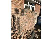 Roughly 900 brick pavers collection only £150