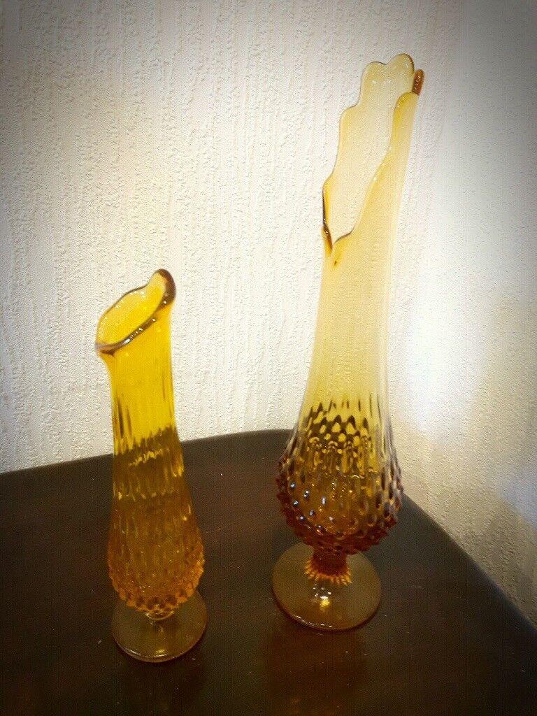 Mid century pair of viking glass vases in dundee gumtree mid century pair of viking glass vases reviewsmspy