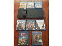 PANASONIC - DMP-BDT 320 3D BLU-RAY DVD PLAYER WITH MOVIES AND TOUCH PAD REMOTE EXCELLENT CONDITION