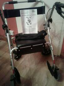 Rollator 2 in 1 transit chair M58203 cost new £134.99