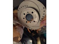 Honda Civic front drilled and grooved discs
