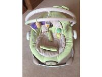 Musical and vibrating baby bouncer chair