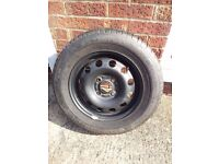 STEEL ROAD WHEEL & TYRE FOR SALE SIZE SHOWN ON PICS OPEN TO OFFERS.