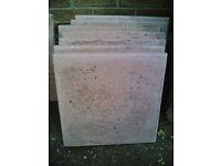 9 x Stone Paving Slabs (18in²)
